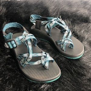 Chaco Classic ZX/2 Teal/Black Sandals